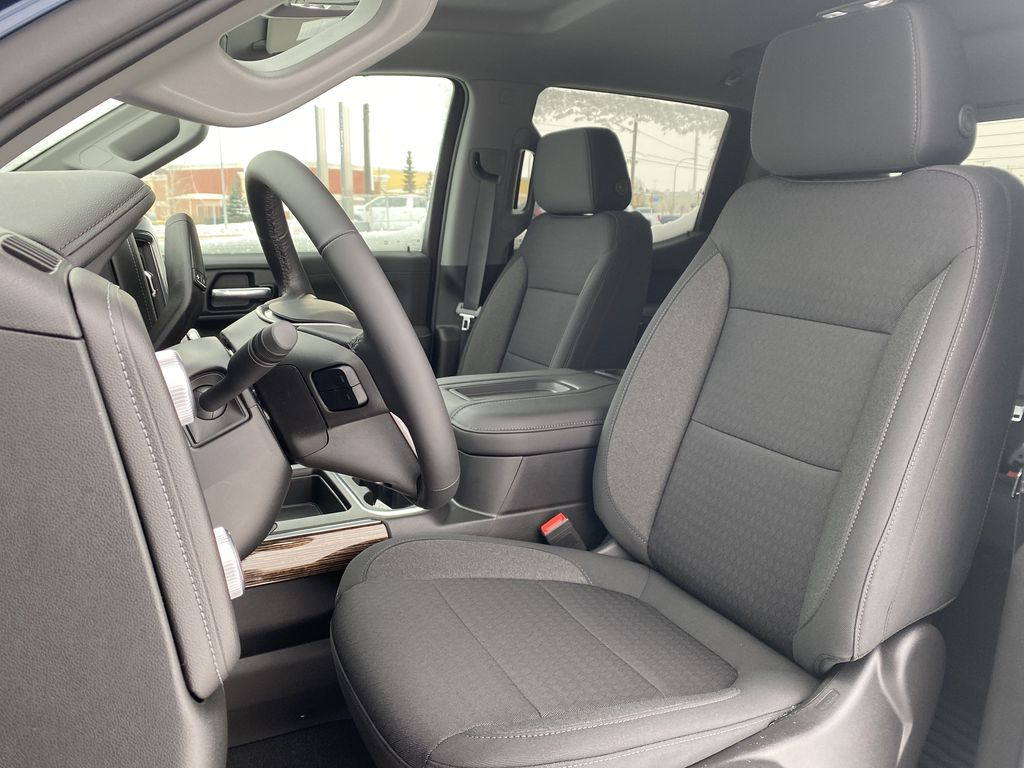 Blue[Pacific Blue Metallic] 2021 GMC Sierra 1500 Left Front Interior Photo in Edmonton AB