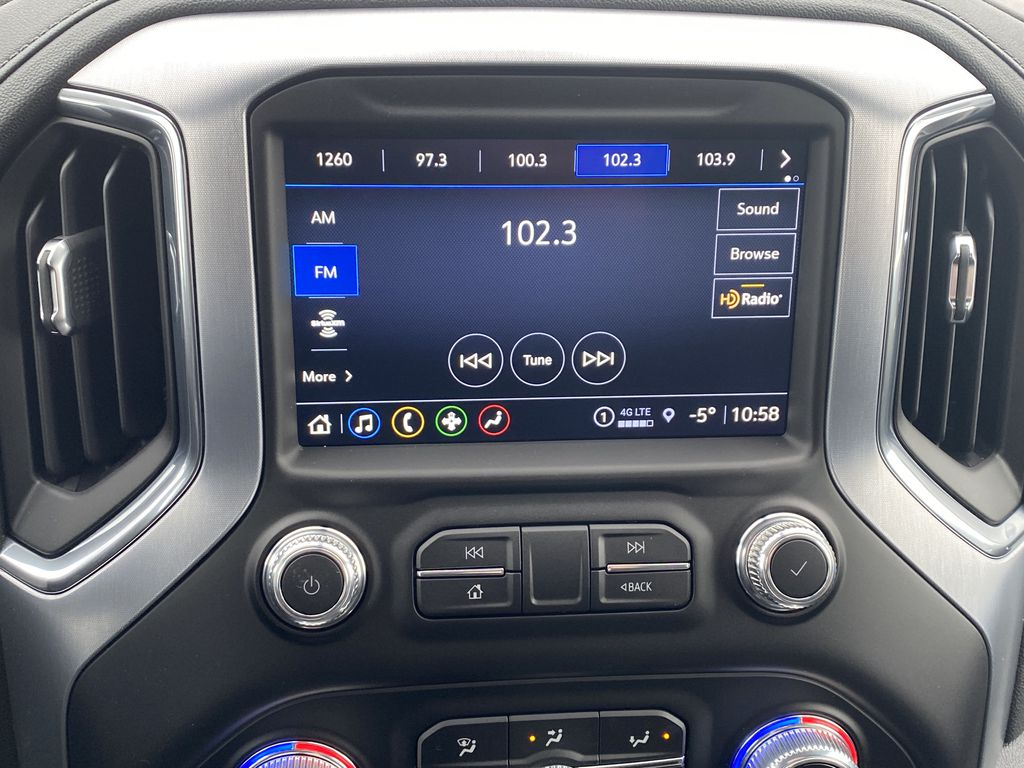 Blue[Pacific Blue Metallic] 2021 GMC Sierra 1500 Radio Controls Closeup Photo in Edmonton AB