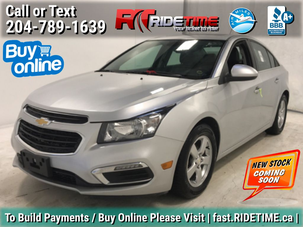 Silver[Silver Ice Metallic] 2015 Chevrolet Cruze 2LT - Leather, Sunroof, Bluetooth Backup Cam