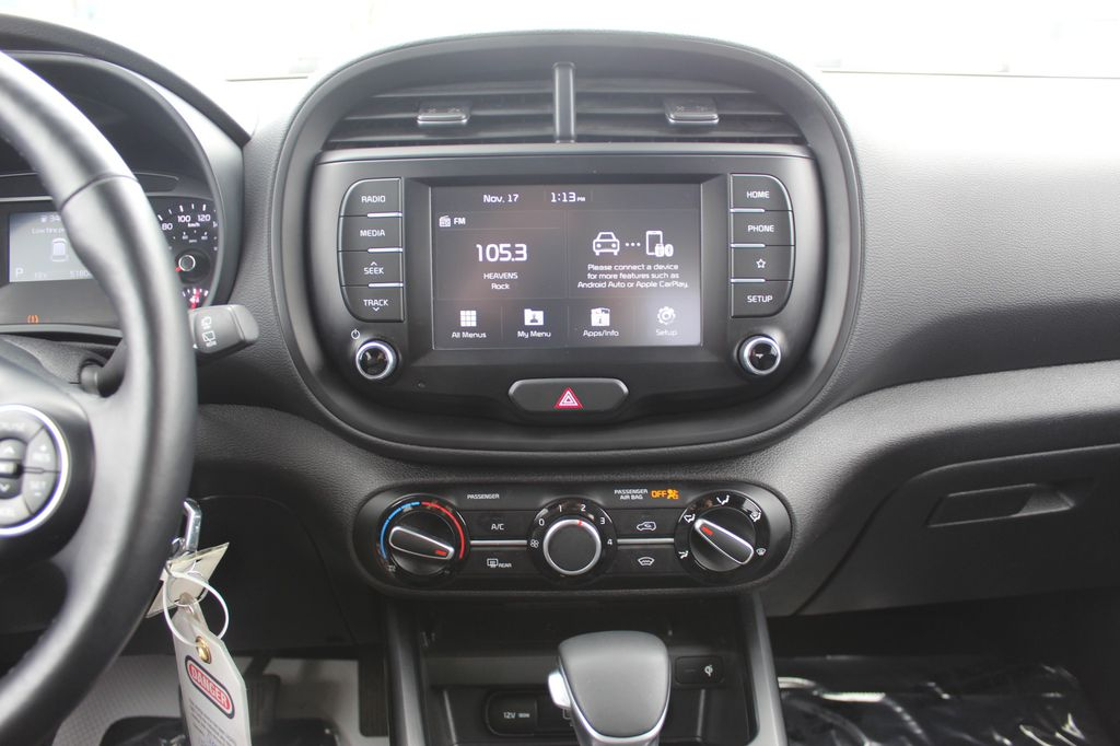 White 2020 Kia Soul Steering Wheel and Dash Photo in Medicine Hat AB