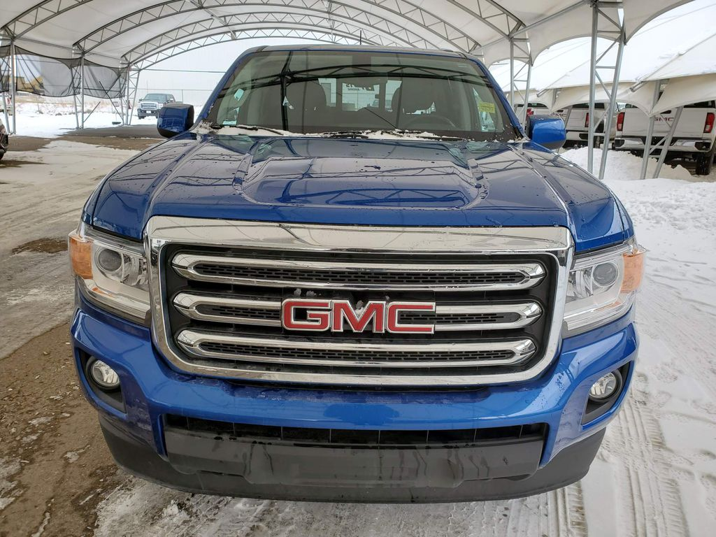 Blue 2019 GMC Canyon Left Front Corner Photo in Airdrie AB