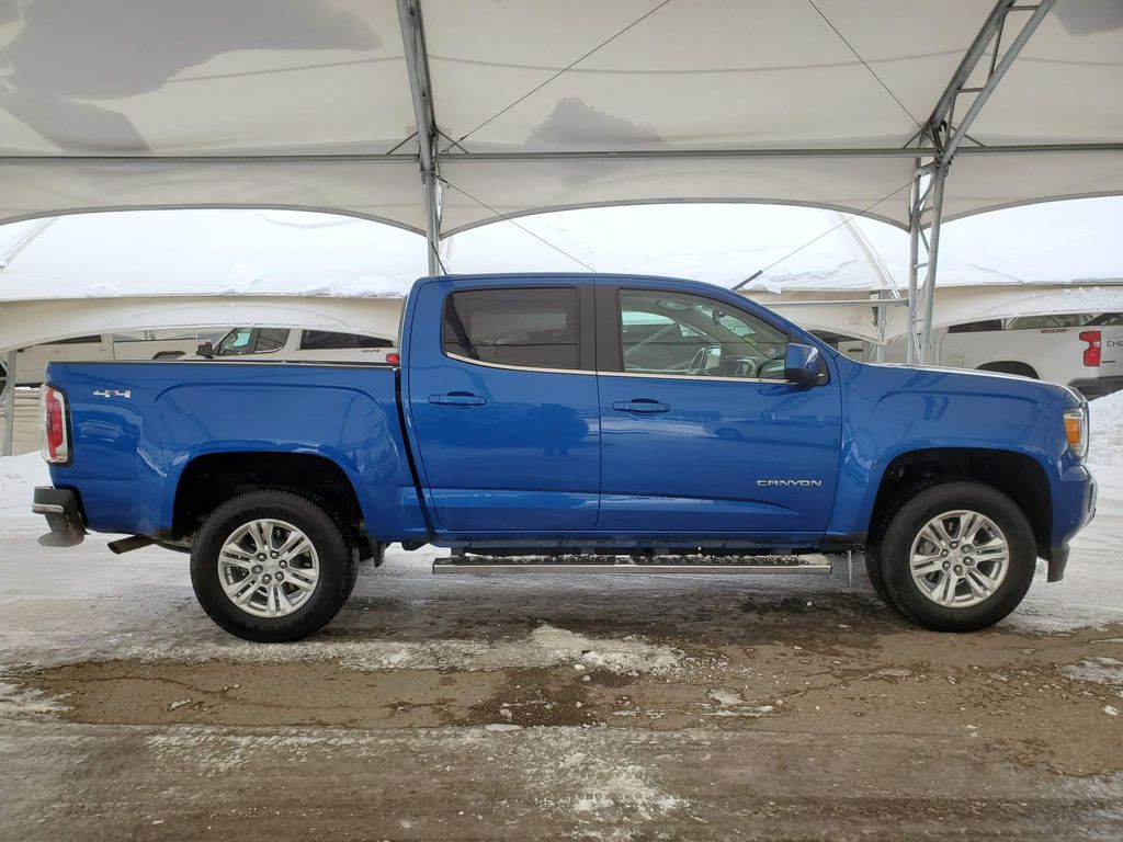 Blue 2019 GMC Canyon Right Rear Corner Photo in Airdrie AB