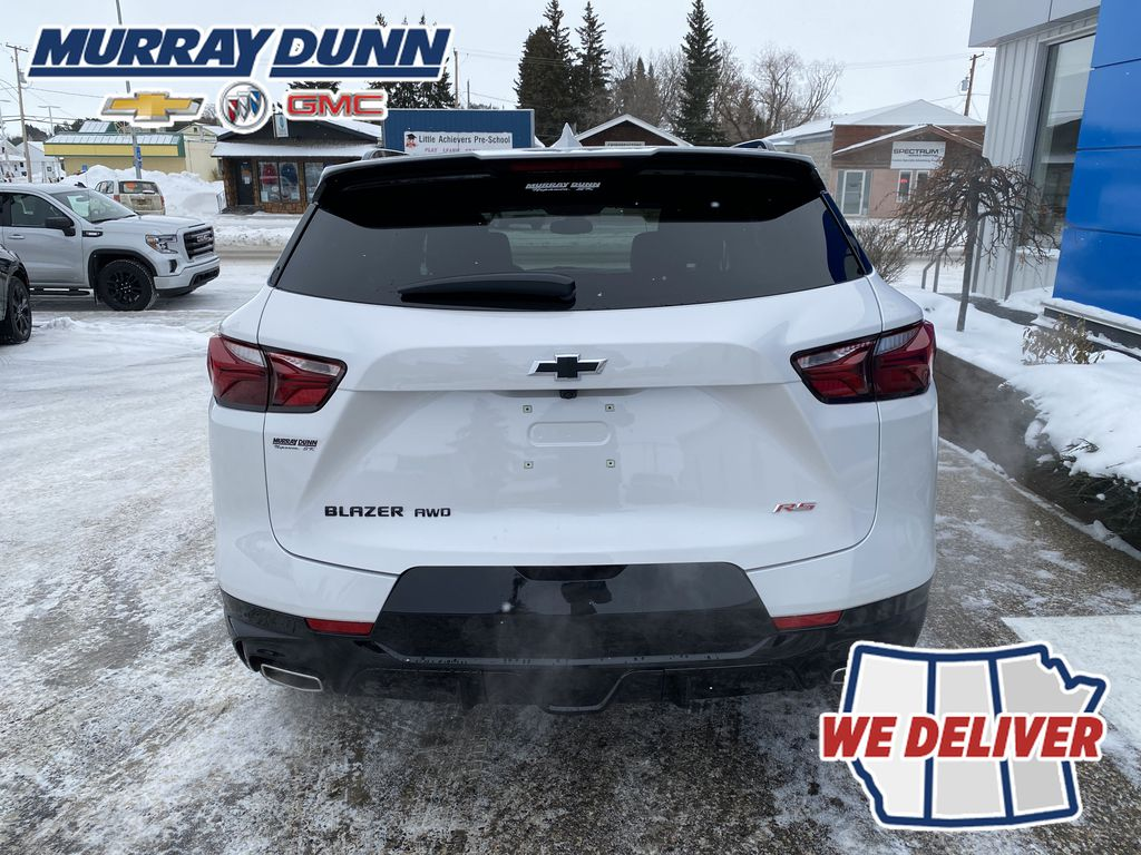 White[Iridescent Pearl Tricoat] 2021 Chevrolet Blazer Rear of Vehicle Photo in Nipawin SK