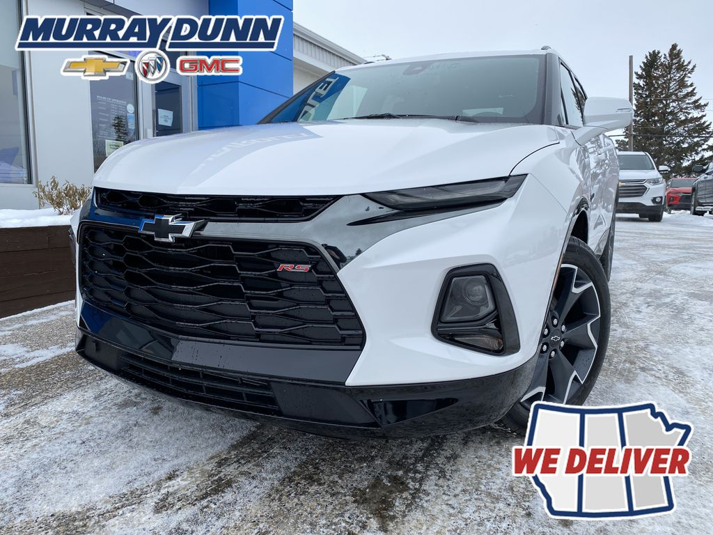 White[Iridescent Pearl Tricoat] 2021 Chevrolet Blazer LF Corner and Fog Lights (Low) in Nipawin SK