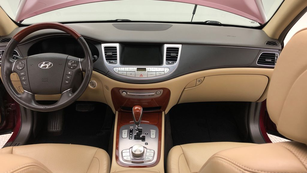 Red[Cabernet Red Pearl Mica] 2013 Hyundai Genesis Sedan 3.8 w/ Technology Package - Leather, Sunroof Central Dash Options Photo in Winnipeg MB