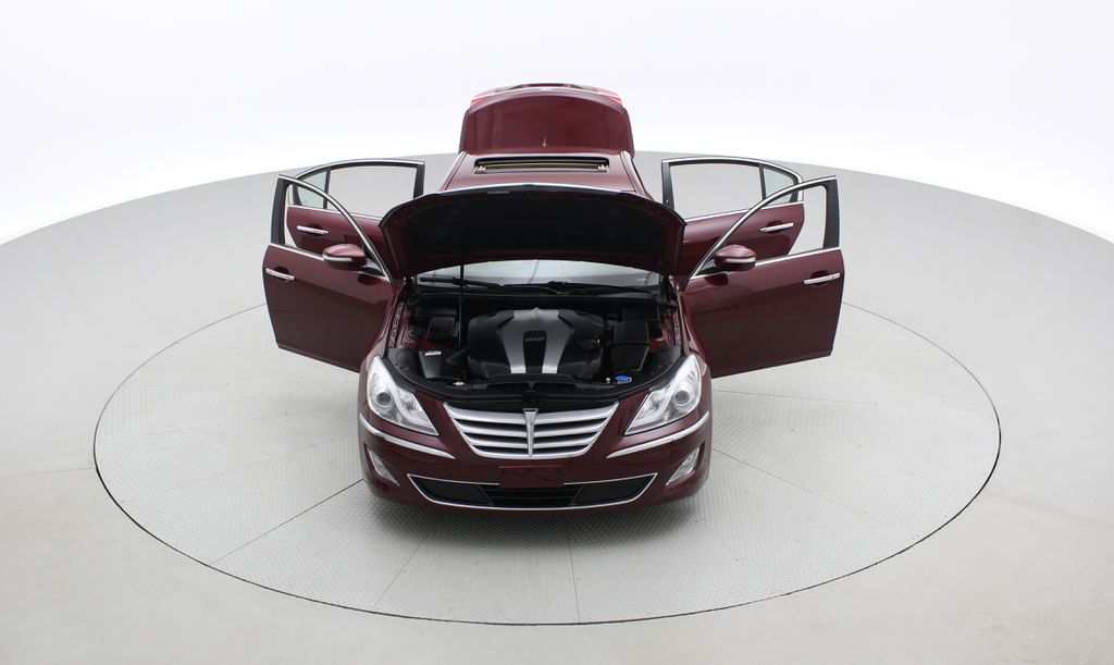 Red[Cabernet Red Pearl Mica] 2013 Hyundai Genesis Sedan 3.8 w/ Technology Package - Leather, Sunroof Front Vehicle Photo in Winnipeg MB