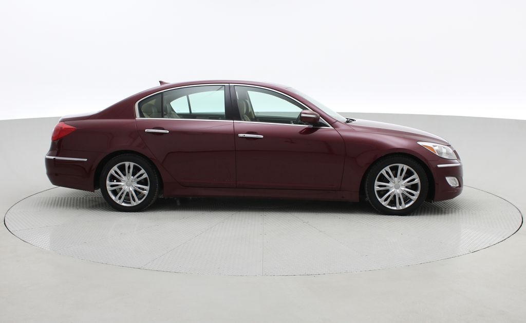 Red[Cabernet Red Pearl Mica] 2013 Hyundai Genesis Sedan 3.8 w/ Technology Package - Leather, Sunroof Right Side Photo in Winnipeg MB