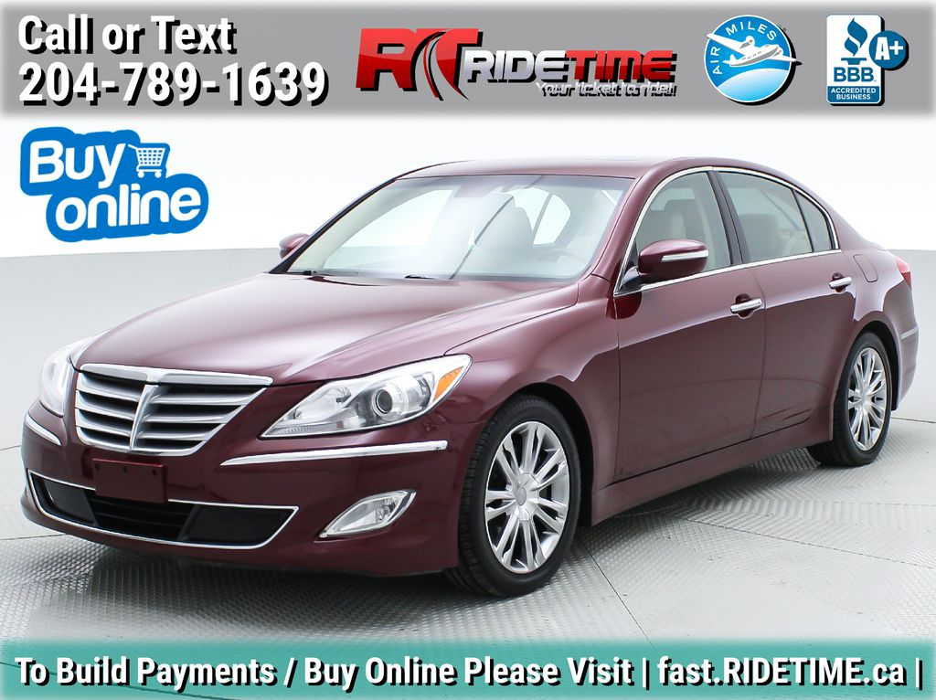 Red[Cabernet Red Pearl Mica] 2013 Hyundai Genesis Sedan 3.8 w/ Technology Package - Leather, Sunroof