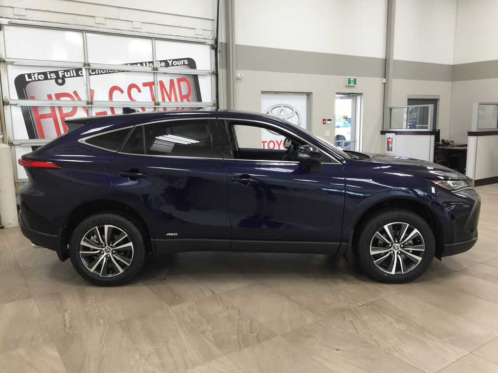 Blue[Blueprint] 2021 Toyota Venza Hybrid LE Right Side Photo in Sherwood Park AB