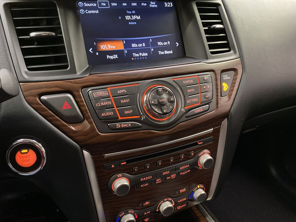 Red[Cayenne Red Metallic] 2017 Nissan Pathfinder Central Dash Options Photo in Dartmouth NS