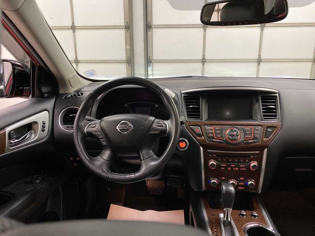 Red[Cayenne Red Metallic] 2017 Nissan Pathfinder Strng Wheel: Frm Rear in Dartmouth NS