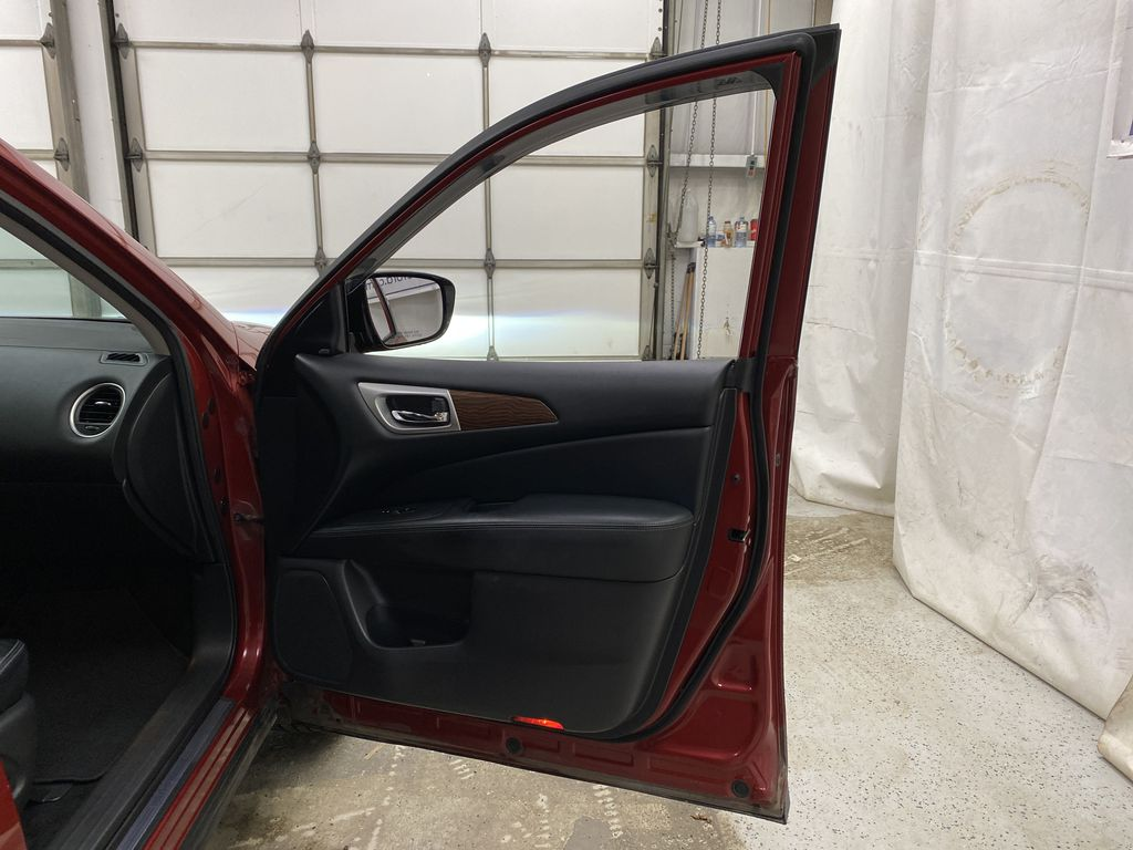 Red[Cayenne Red Metallic] 2017 Nissan Pathfinder Right Front Interior Door Panel Photo in Dartmouth NS