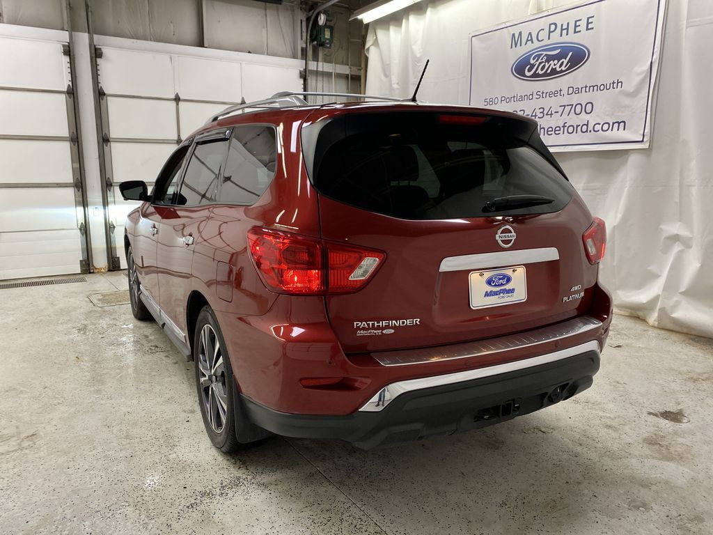 Red[Cayenne Red Metallic] 2017 Nissan Pathfinder Rear of Vehicle Photo in Dartmouth NS