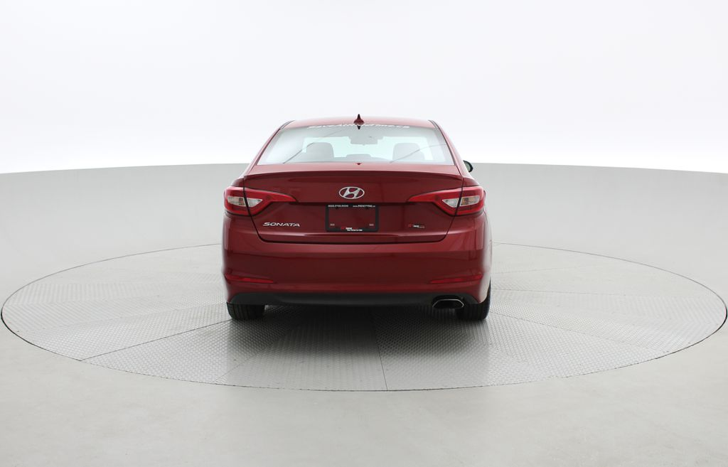 Red[Fiery Red Metallic] 2017 Hyundai Sonata GL - Clean CarFax, Heated Seats, Bluetooth Rear of Vehicle Photo in Winnipeg MB