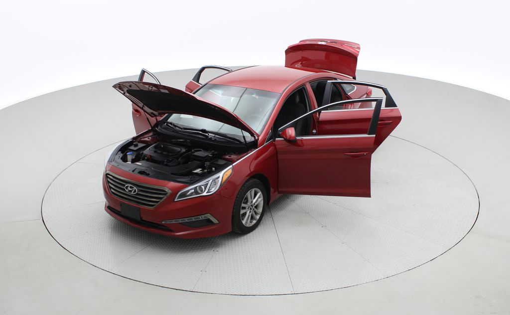 Red[Fiery Red Metallic] 2017 Hyundai Sonata GL - Clean CarFax, Heated Seats, Bluetooth Left Front Corner Photo in Winnipeg MB