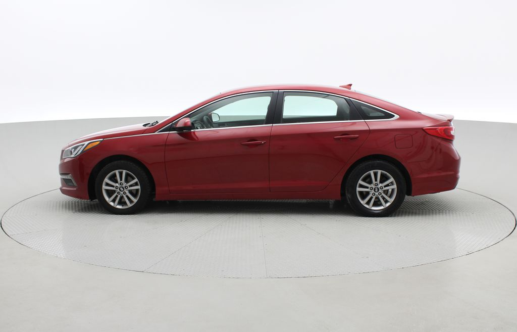 Red[Fiery Red Metallic] 2017 Hyundai Sonata GL - Clean CarFax, Heated Seats, Bluetooth Left Side Photo in Winnipeg MB