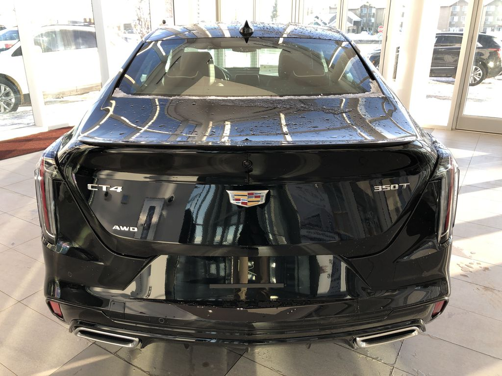 Black[Black Raven] 2021 Cadillac CT4 Rear of Vehicle Photo in Edmonton AB