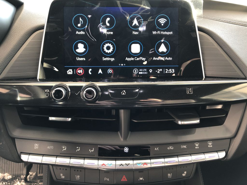 Black[Black Raven] 2021 Cadillac CT4 Central Dash Options Photo in Edmonton AB