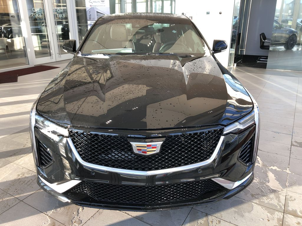 Black[Black Raven] 2021 Cadillac CT4 Front Vehicle Photo in Edmonton AB