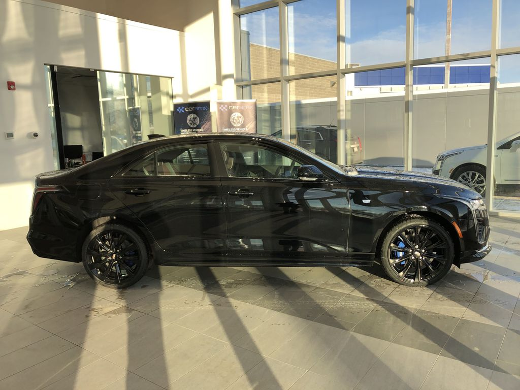 Black[Black Raven] 2021 Cadillac CT4 Right Side Photo in Edmonton AB