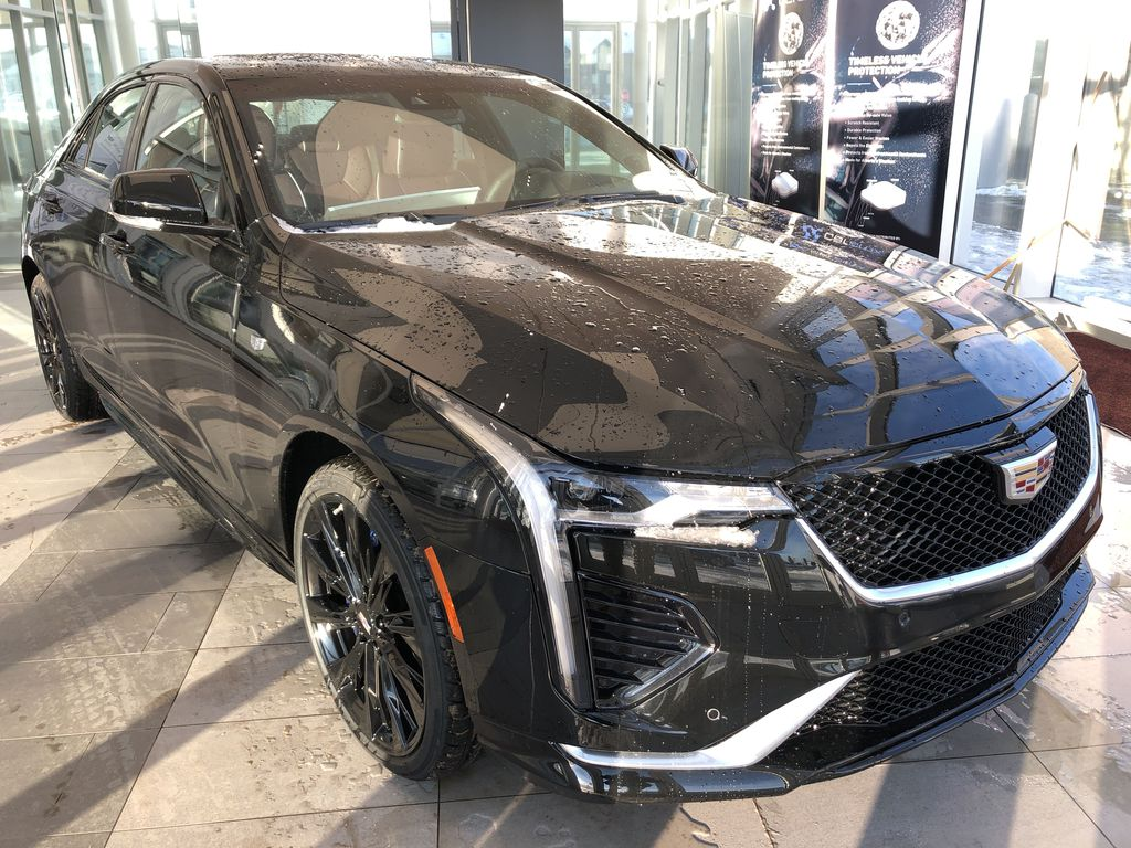 Black[Black Raven] 2021 Cadillac CT4 Right Front Corner Photo in Edmonton AB
