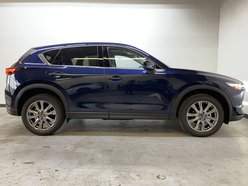 DEEP CRYSTAL BLUE MICA(42M) 2021 Mazda CX-5 GT AWD Right Side Photo in Edmonton AB