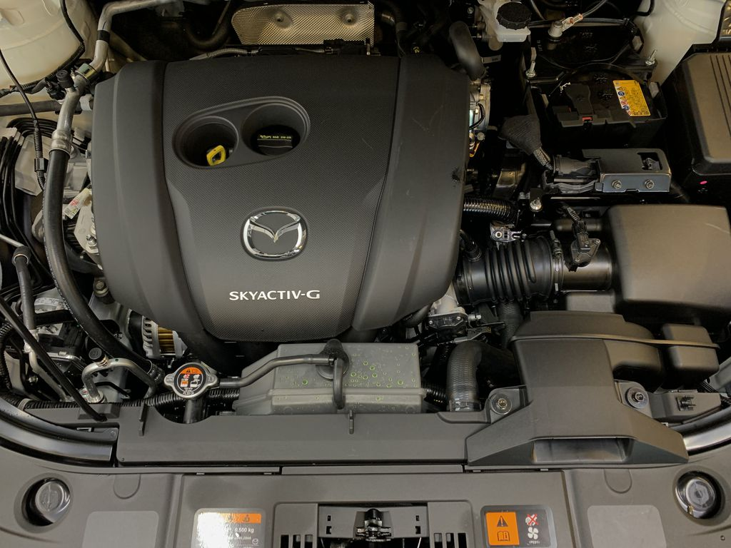 SNOW FLAKE WHITE PEARL(25D) 2021 Mazda CX-5 GT AWD Engine Compartment Photo in Edmonton AB