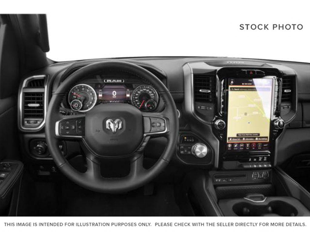 Red[Flame Red] 2020 Ram 1500 Steering Wheel and Dash Photo in Yarmouth NS