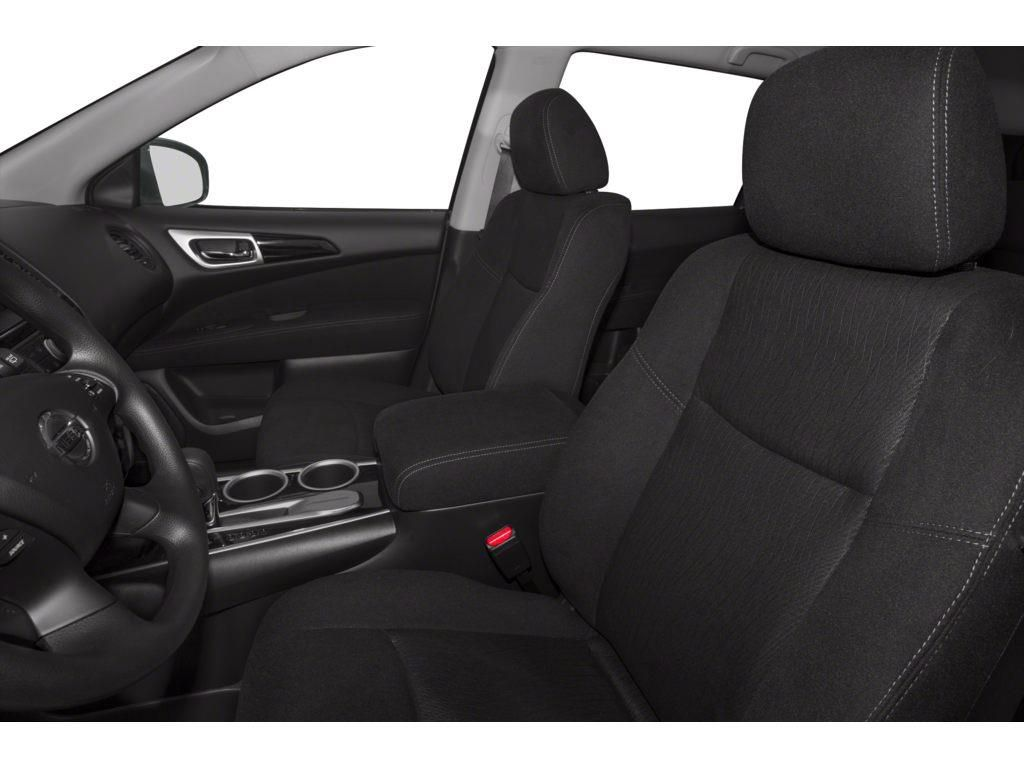 Black[Super Black] 2014 Nissan Pathfinder Left Front Interior Photo in Okotoks AB
