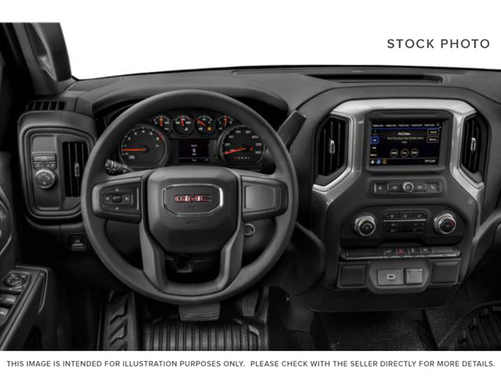 White[Summit White] 2020 GMC Sierra 1500 Steering Wheel and Dash Photo in Fort Macleod AB
