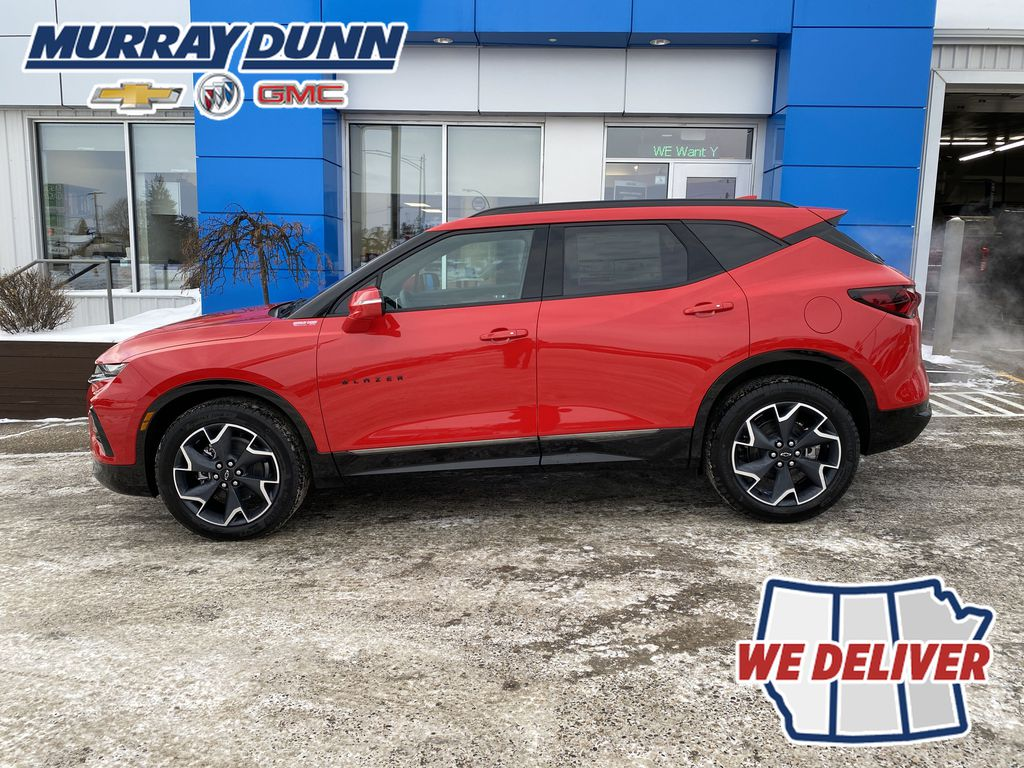 Red[Red Hot] 2021 Chevrolet Blazer Left Side Photo in Nipawin SK
