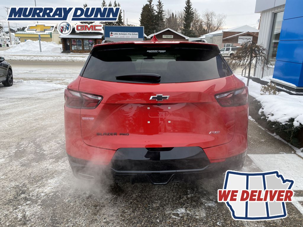 Red[Red Hot] 2021 Chevrolet Blazer Rear of Vehicle Photo in Nipawin SK