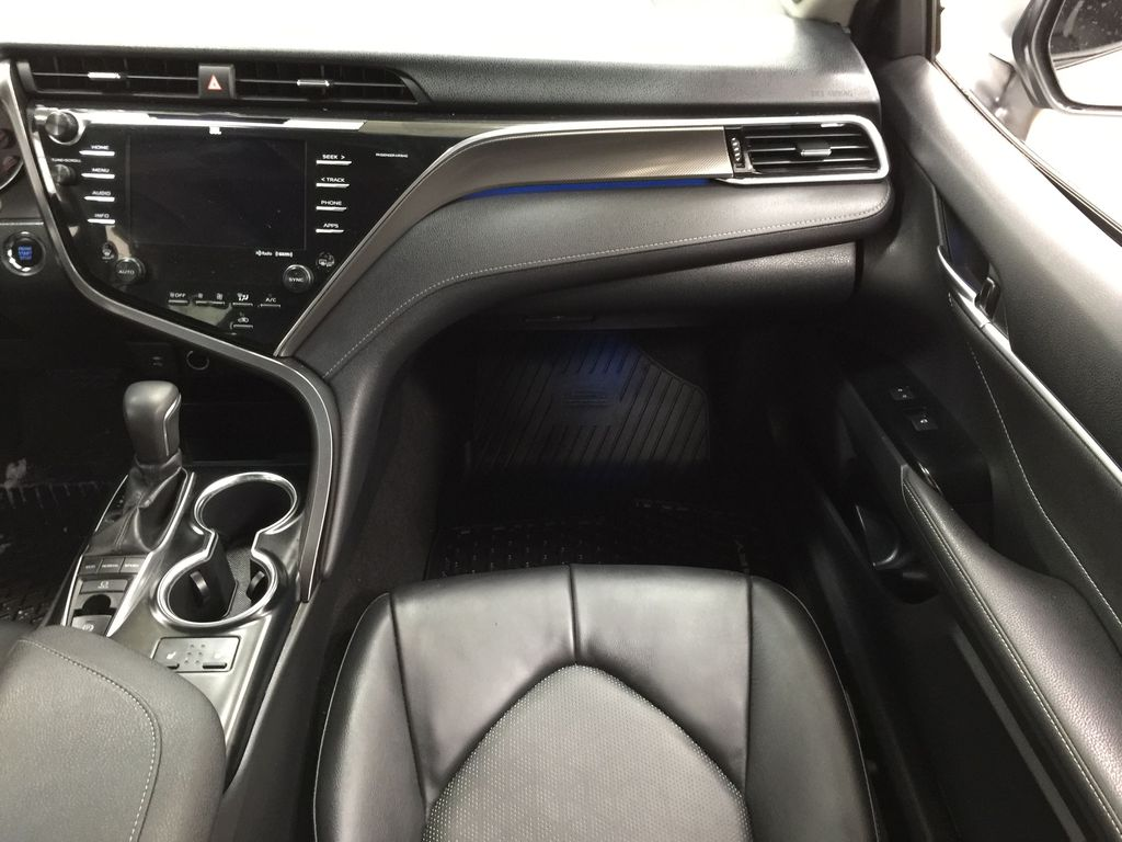 White[Platinum White Pearl w/Black Roof] 2018 Toyota Camry XSE V6 Right Front Seat Photo in Sherwood Park AB
