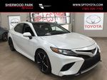 White[Platinum White Pearl w/Black Roof] 2018 Toyota Camry XSE V6 Primary Listing Photo in Sherwood Park AB