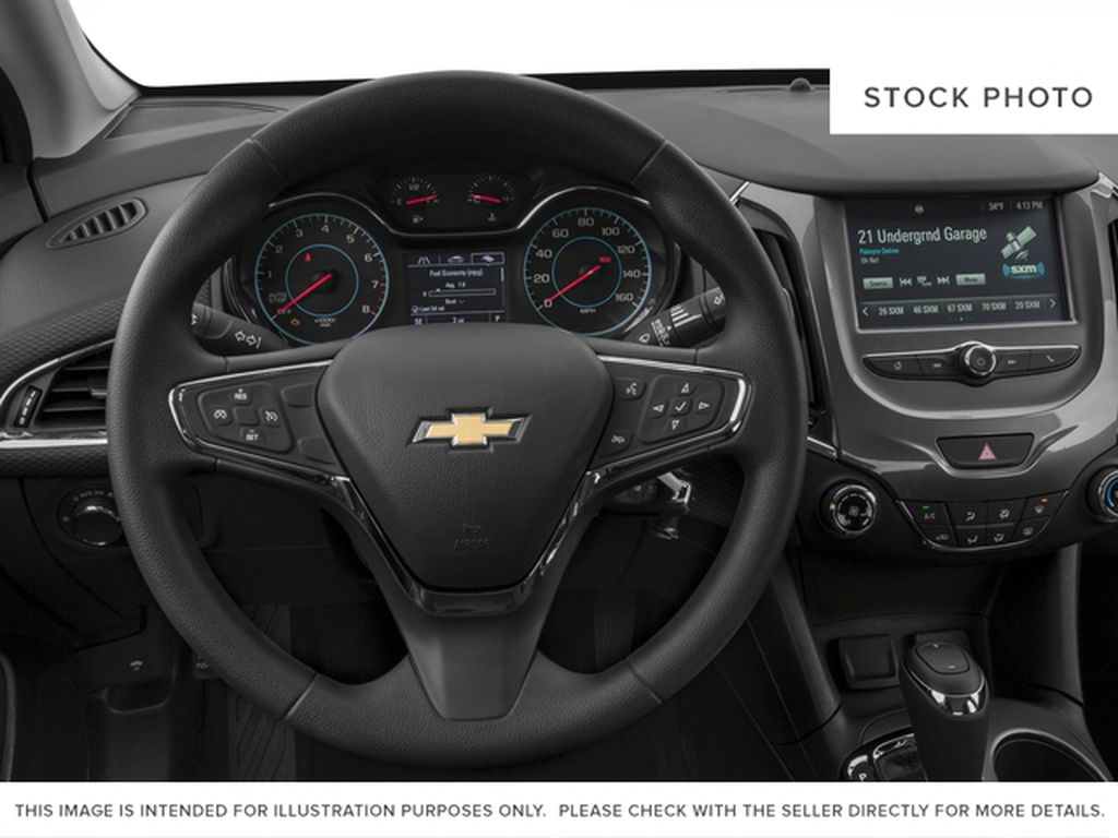 Blue 2018 Chevrolet Cruze Steering Wheel and Dash Photo in Medicine Hat AB
