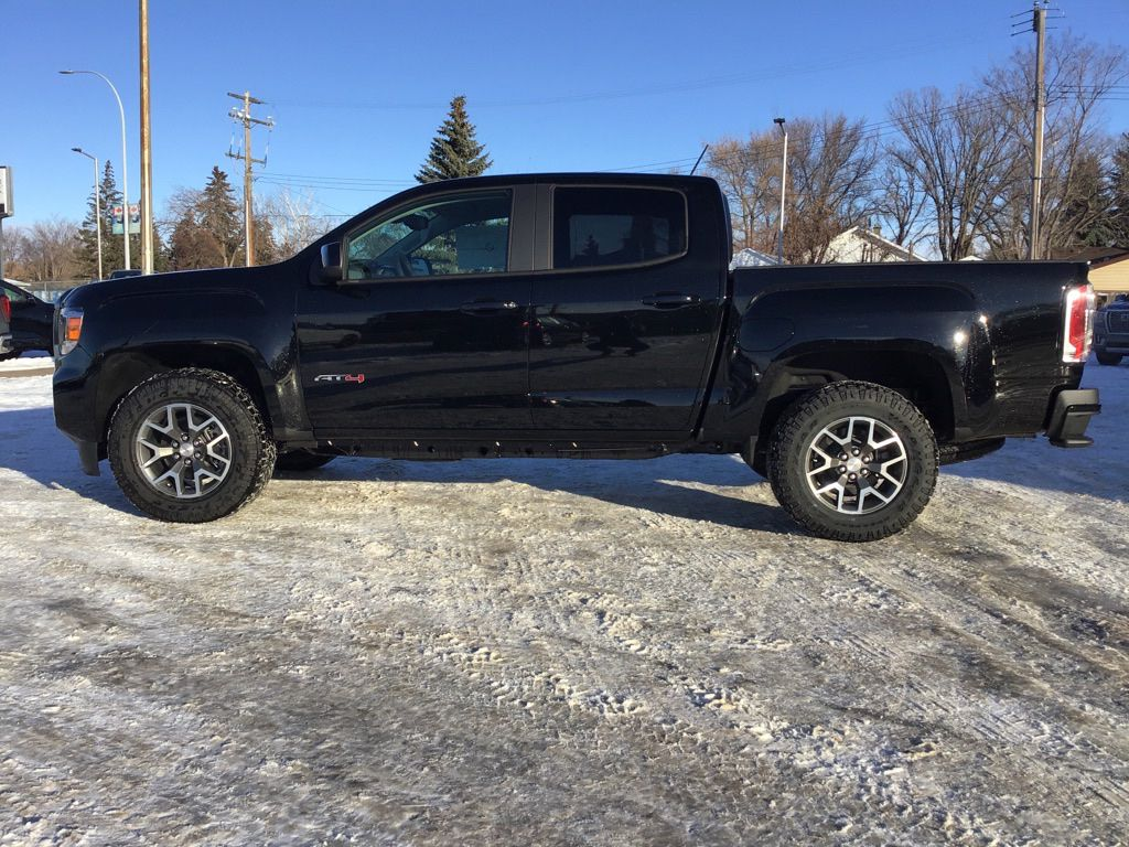 Black 2021 GMC Canyon Left Front Corner Photo in Brooks AB