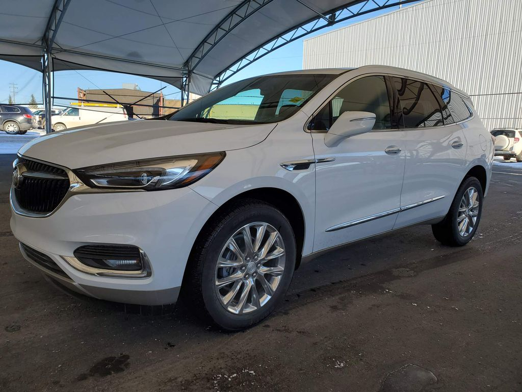 White 2020 Buick Enclave Center Console Photo in Airdrie AB