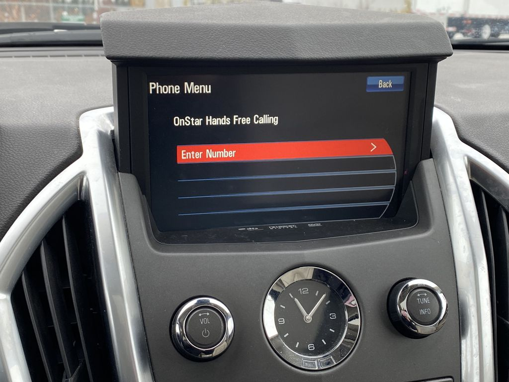 Red[Crystal Red Tintcoat] 2011 Cadillac SRX Central Dash Options Photo in Edmonton AB