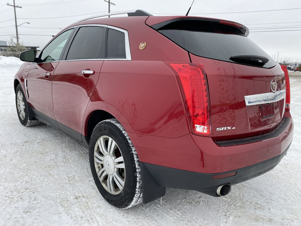 Red[Crystal Red Tintcoat] 2011 Cadillac SRX Left Rear Corner Photo in Edmonton AB