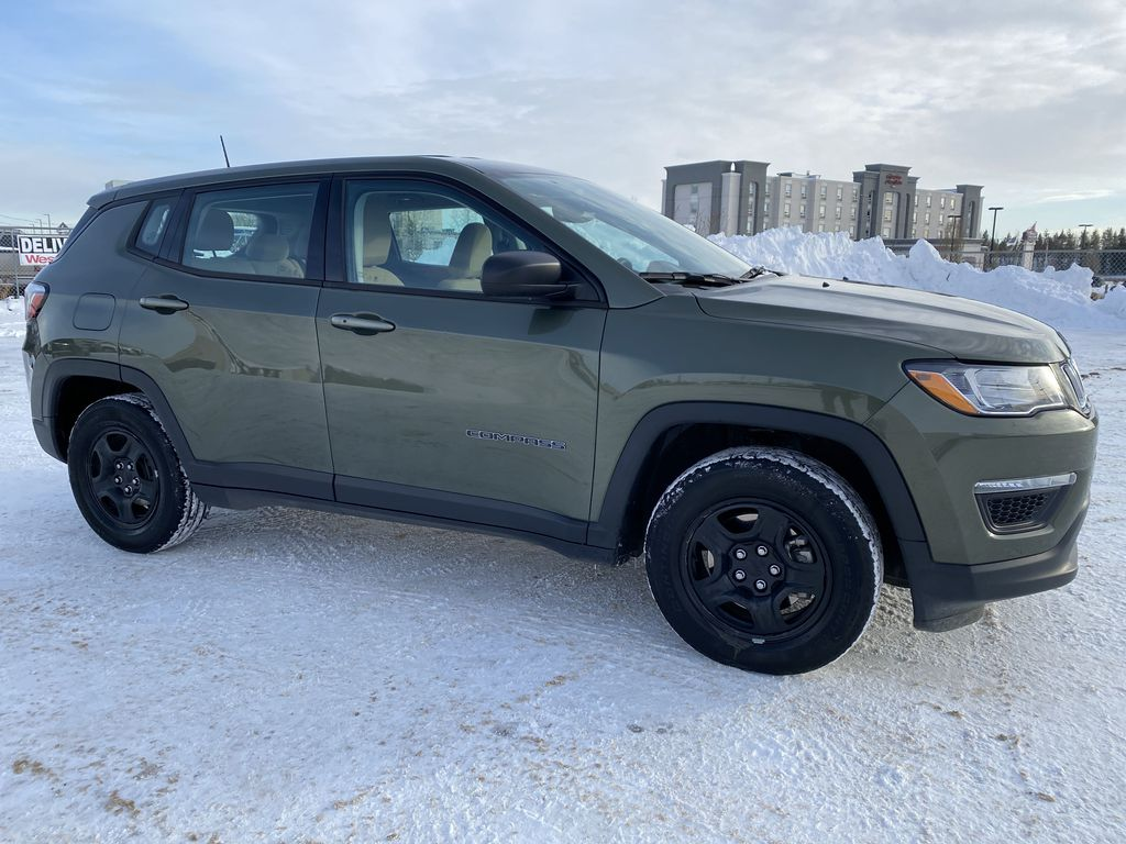 Green[Olive Green Pearl] 2019 Jeep Compass Right Side Photo in Edmonton AB