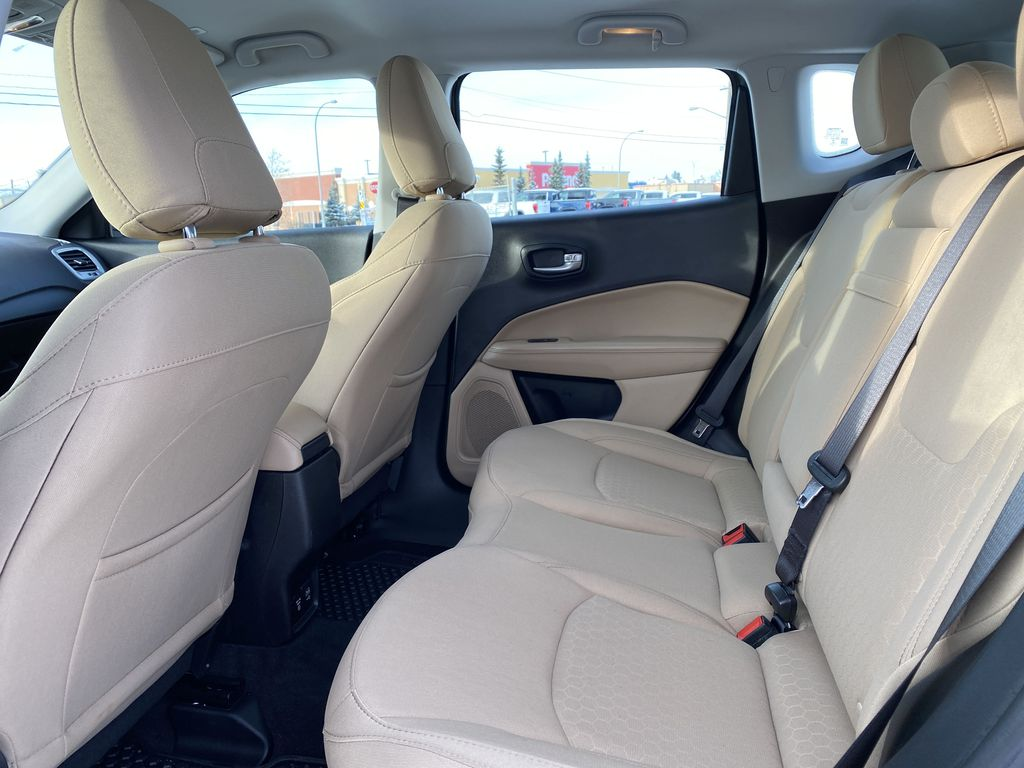 Green[Olive Green Pearl] 2019 Jeep Compass Left Side Rear Seat  Photo in Edmonton AB