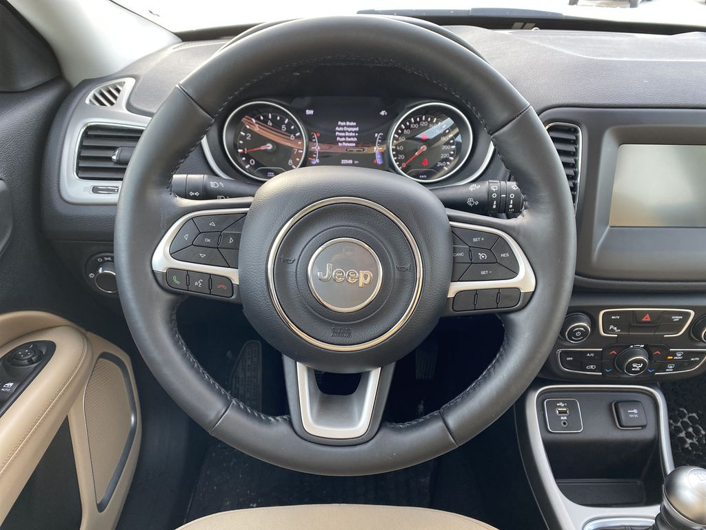 Green[Olive Green Pearl] 2019 Jeep Compass Strng Wheel: Frm Rear in Edmonton AB