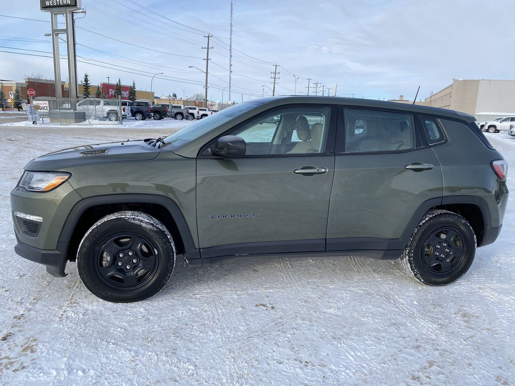 Green[Olive Green Pearl] 2019 Jeep Compass Left Side Photo in Edmonton AB