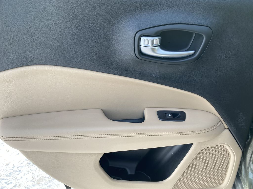 Green[Olive Green Pearl] 2019 Jeep Compass Left Rear Interior Door Panel Photo in Edmonton AB