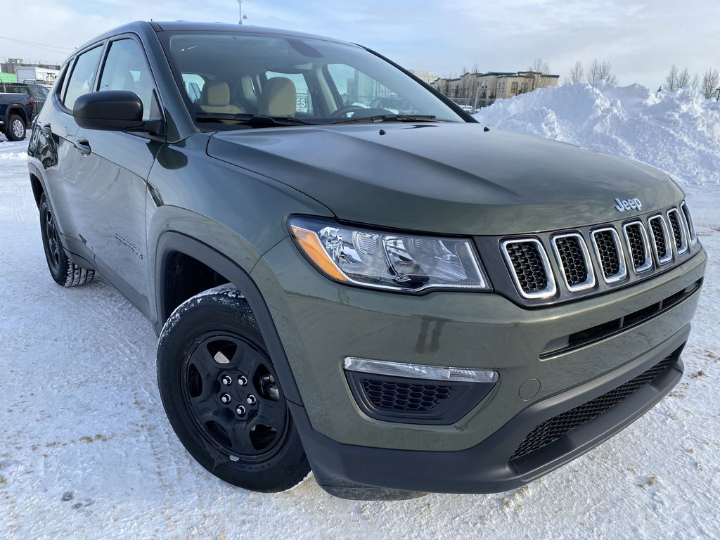 Green[Olive Green Pearl] 2019 Jeep Compass Right Front Corner Photo in Edmonton AB