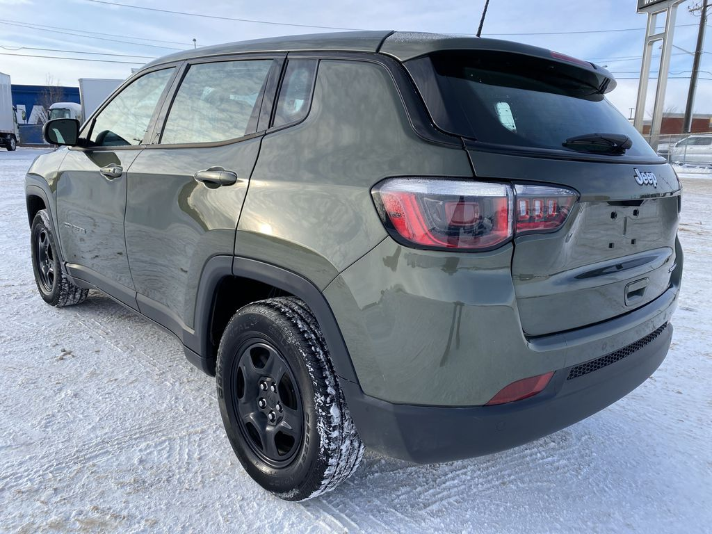 Green[Olive Green Pearl] 2019 Jeep Compass Left Rear Corner Photo in Edmonton AB