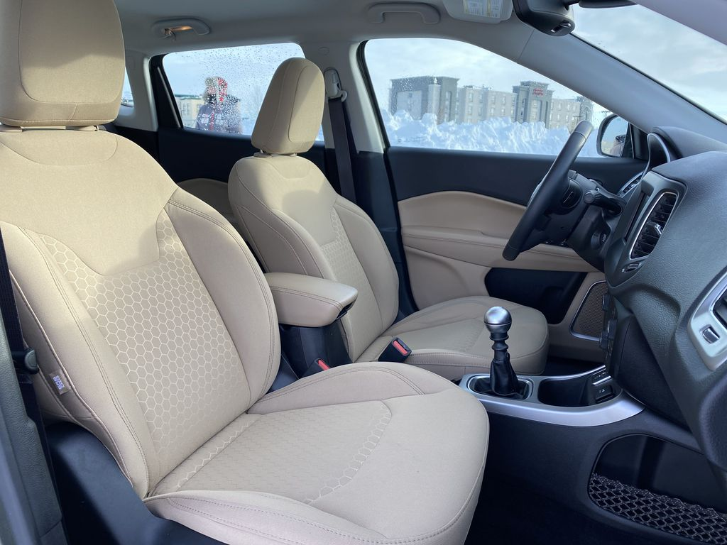 Green[Olive Green Pearl] 2019 Jeep Compass Right Side Front Seat  Photo in Edmonton AB