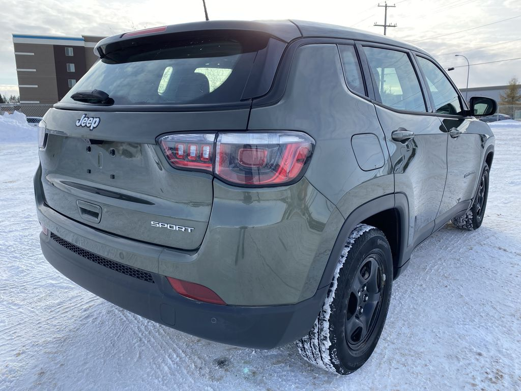 Green[Olive Green Pearl] 2019 Jeep Compass Right Rear Corner Photo in Edmonton AB