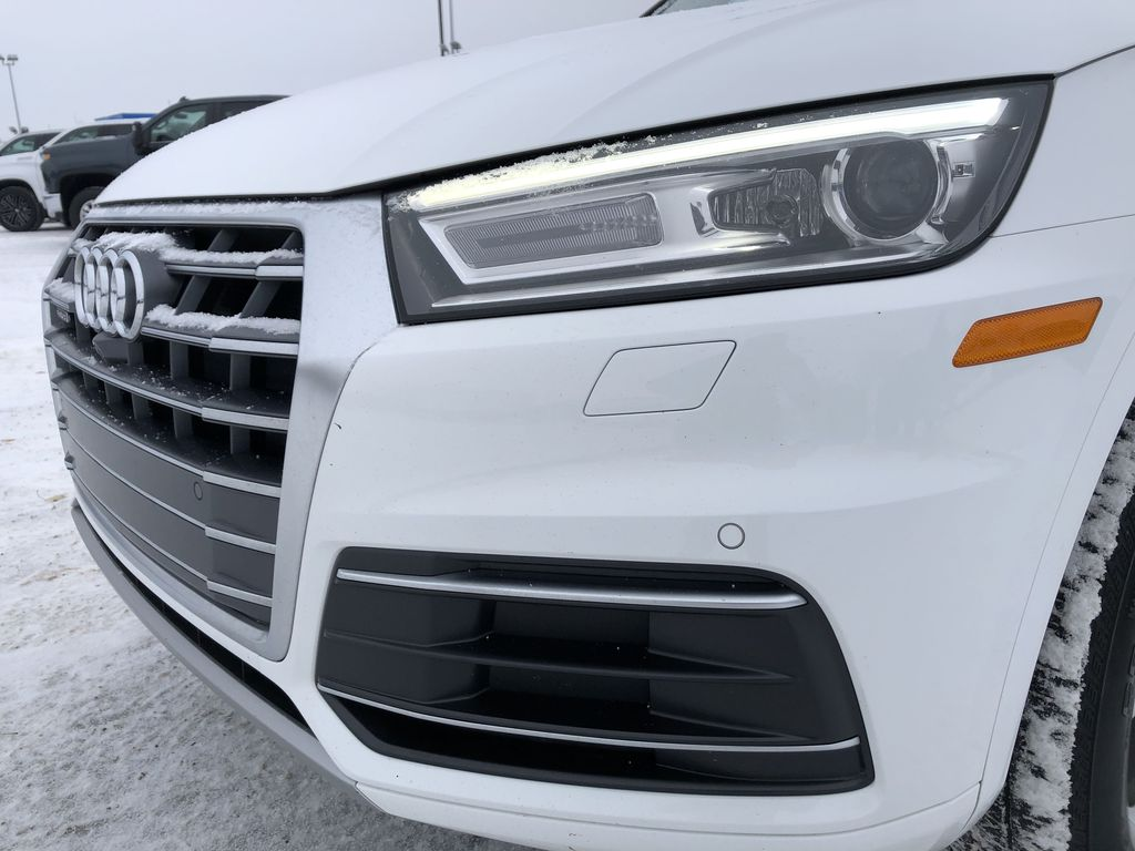 White 2018 AUDI Q5 Left Front Head Light / Bumper and Grill in Edmonton AB