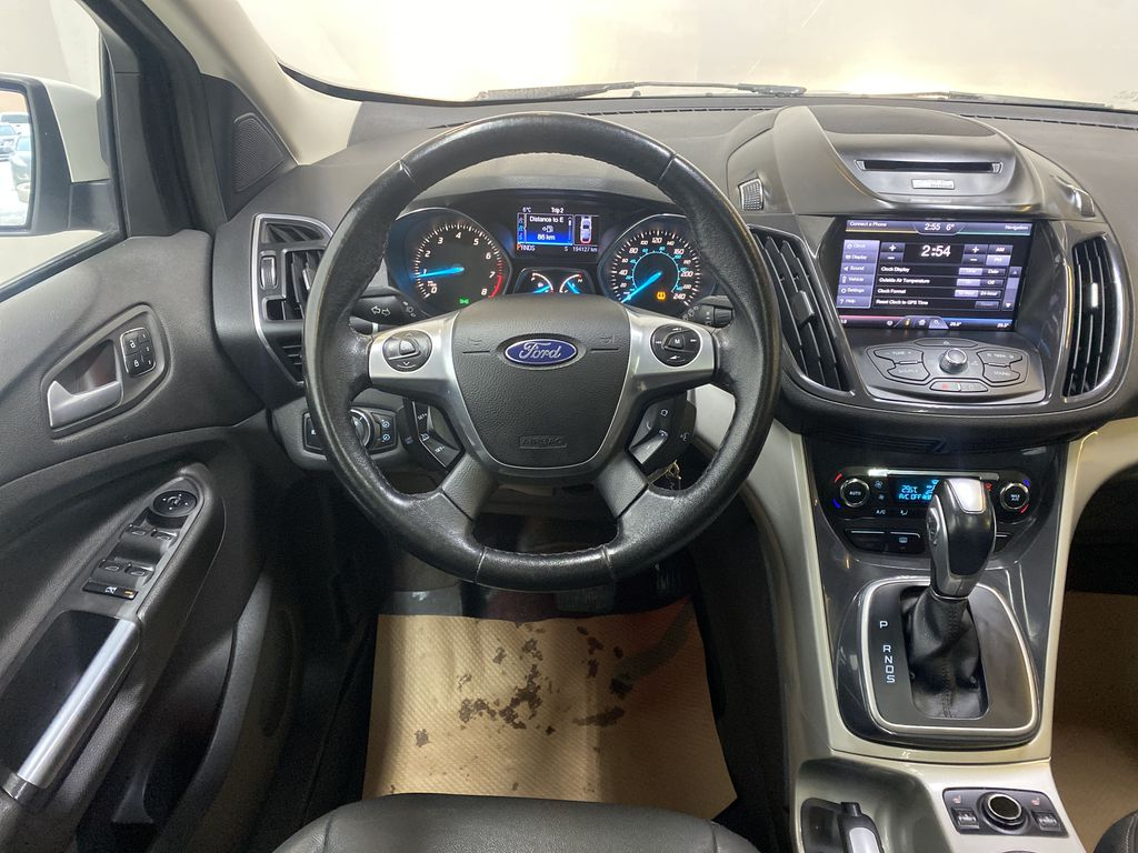 WHITE 2013 Ford Escape Strng Wheel: Frm Rear in Edmonton AB